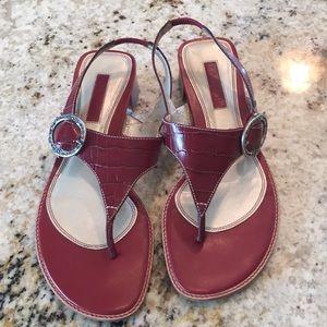 Unisa croc print red sandals